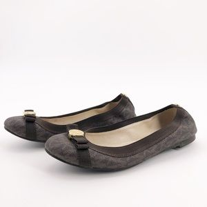 Michael Kors sz 6 Brown Signature Bow Ballet Flats